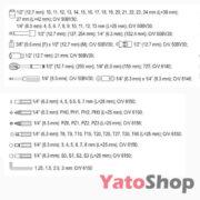 Набір інструментів YATO 72 предметів YT-38782 Ціна