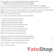 Набори торцевих головок 14 , 38, 12 Yato YT-38831 купити