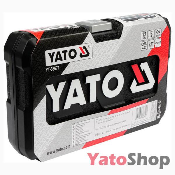 Набір головок 12, 12 предметів Yato YT-38671 Львів