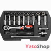 Набір головок 23 предметів Yato YT-1445