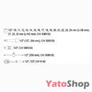 Набір головок з тріщоткою 23 предмети YT-3873 купити