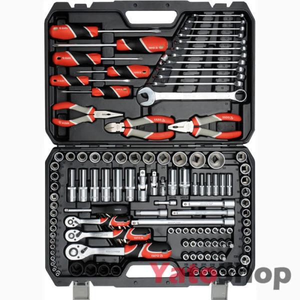 Набір інструментів 14 , 38, 12 4-32 мм Ято YT-38881