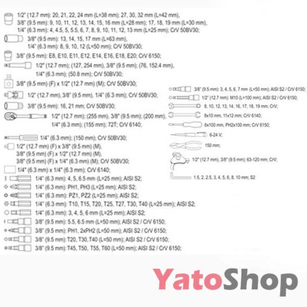 Набір інструментів YATO 126 предметів YT-38875 Купити