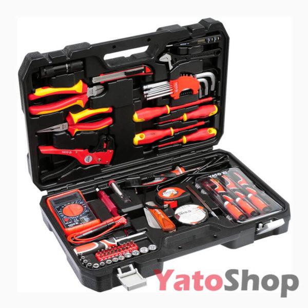 Набір інструментів для електрика YATO 68 предметів YT-39009