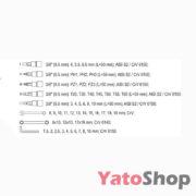 Набір інструменту 12 , 38, 14 4-32мм Yato YT-38811 Рівне