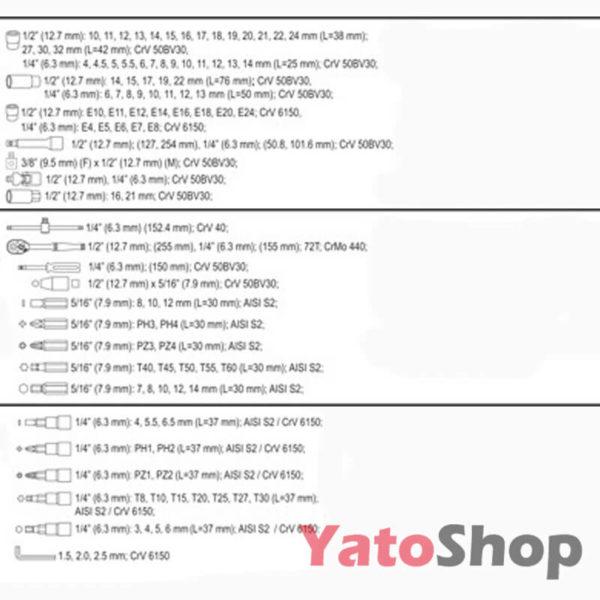 Набір інструметів Yato 108 предменти YT-38791 купити