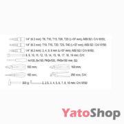Набір ручного інструменту Yato YT-38901 129 предмети купити