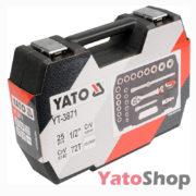 Набір торцевих головок 10-24мм 12 з тріщеткою і подовжувачем Yato YT-3869 ціна