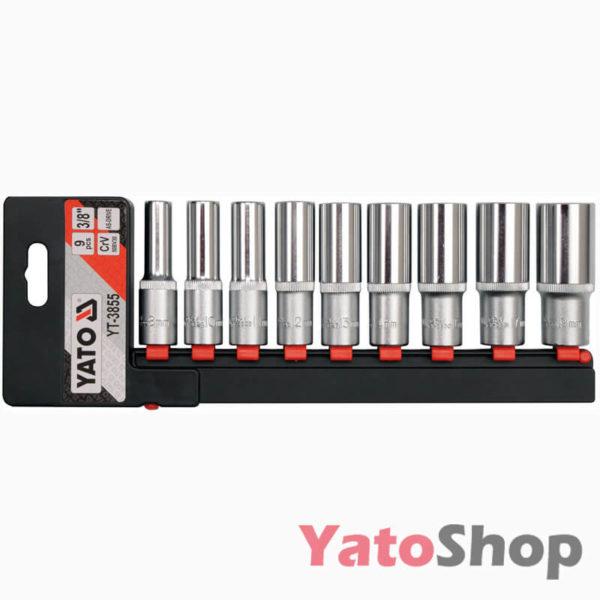 Набір торцевих головок 38 8-19мм Yato YT-3855