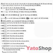 Набір торцевих головок Yato 108 предметів YT-3879 Купити