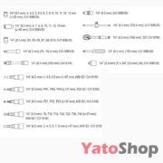 Набір торцевих головок і насадок з тріскачкою 14 4-13мм Yato YT -1450 ціна