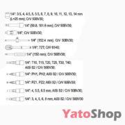 Набір торцевих головок з тріскачкою 14 3,5-14мм Yato YT-1447
