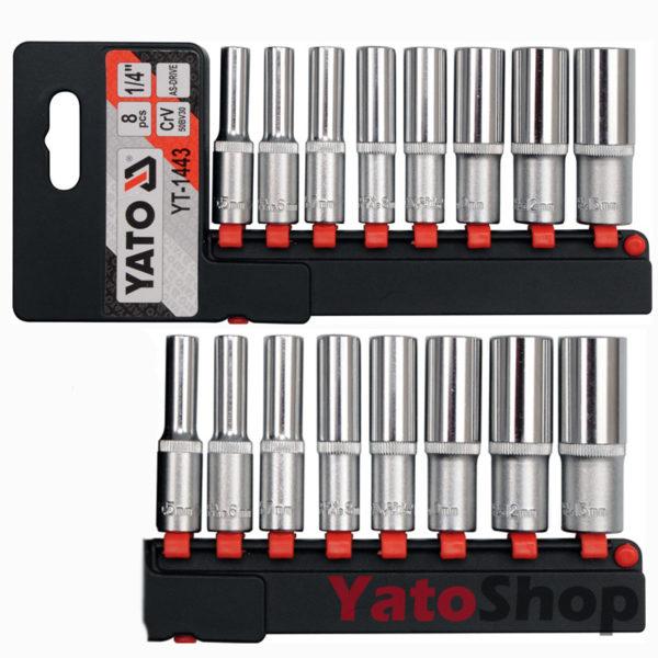 Набір високих головок 14'' 8 предметів Yato YT-1443