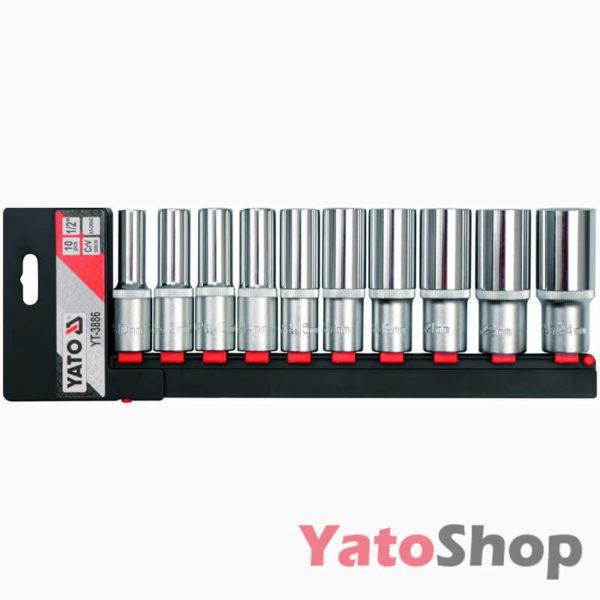 Набір високих головок Yato 10 предметів YT-3886
