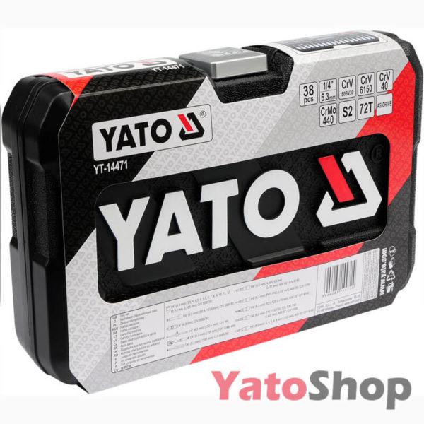 Набір з 38 маленьких торцевих головок і насадок 14 Yato YT-14471 ціна