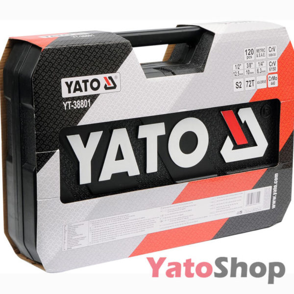 Професійний набір інструментів Yato 120 пр YT-38801 фото