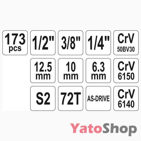 Універсальний набір інструментів Yato YT-38931 179 предмети Львів