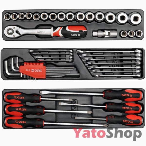Ящик з інструментами Yato 62 предмета YT-3895 ціна