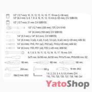 Ящик з набором інструментів Yato 80 предметів YT-38951 опис