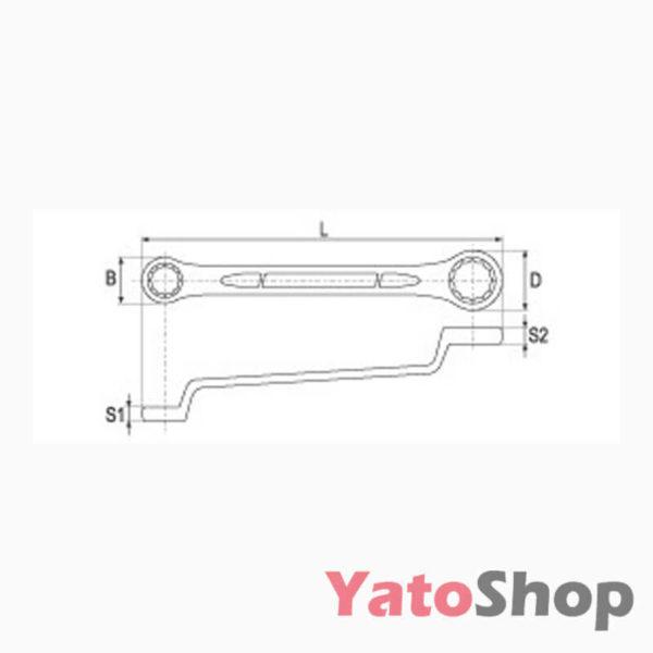 Ключ накидний вигнутий 8х9мм YT-0209 фото