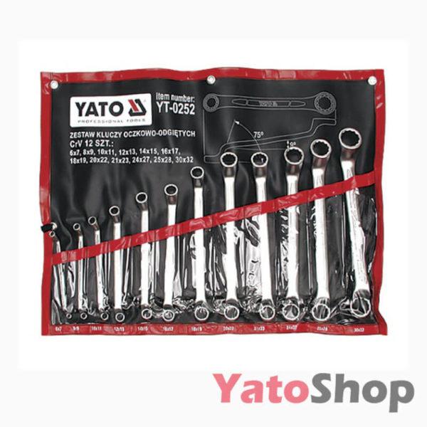 Набір ключів накидних вигнутих 12 штук 6-32мм Yato YT-0252