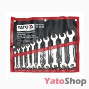 Набір рожкових ключів Yato 10 шт 6-27мм YT-0150