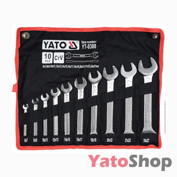 Набір рожкових ключів Yato 6-27мм 10 штукт YT-0380
