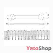 Набір рожкових ключів Yato 6-27мм 10 штукт YT-0380 Львів
