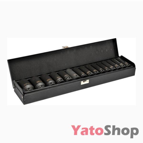 Набір торцевих ударних глибоких головок Yato 10-32мм YT-1055 Львів