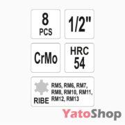 Набір ударних біт RIBE 8 предметів Yato YT-1068 Тернопіль