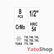 Набір ударних біт TORX 8 штук YT-1065 Рівне