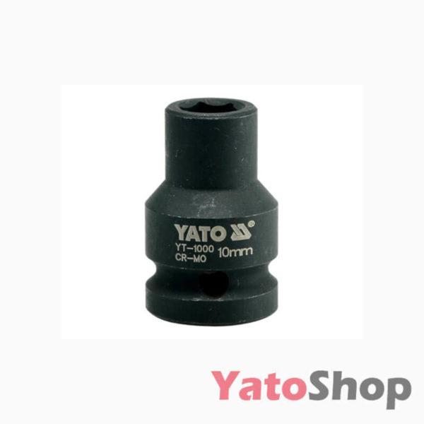 Торцева головка ударна 6 - ти гранна 10мм Yato YT-1000