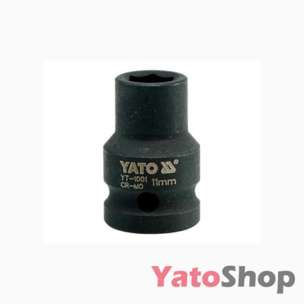 Торцева, ударна, шестигранна головка 11 мм Yato YT-1001