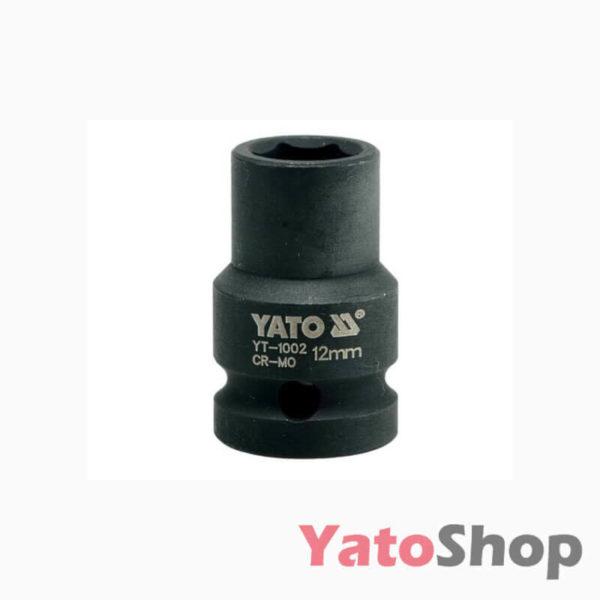 Торцева, ударна, шестигранна головка 12 мм Yato YT-1002