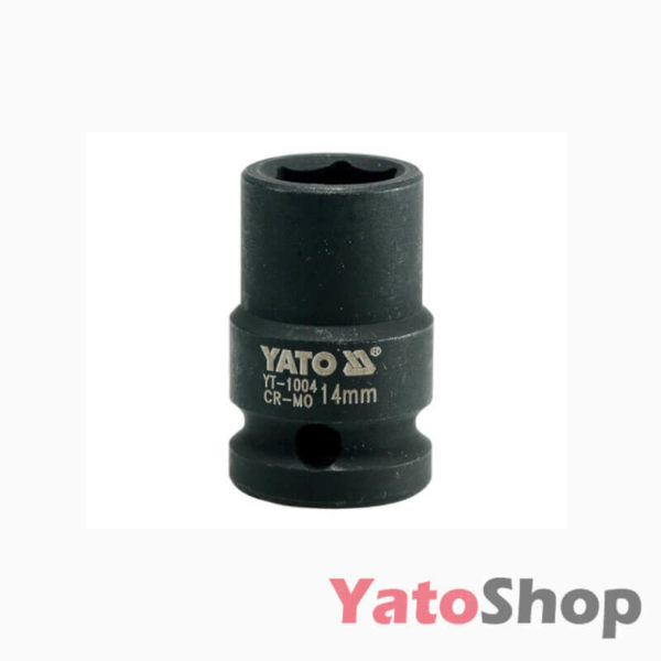 Торцева, ударна, шестигранна головка 14 мм Yato YT-1004