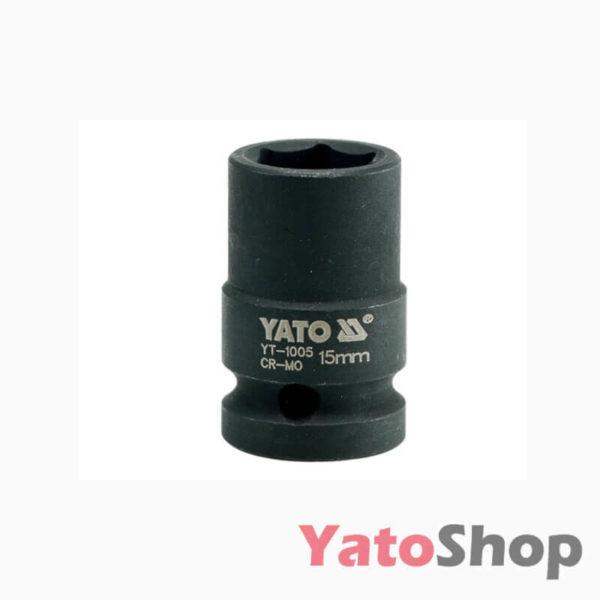 Торцева, ударна, шестигранна головка 15 мм Yato YT-1005