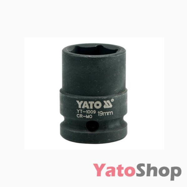 Торцева, ударна, шестигранна головка 19 мм Yato YT-1009
