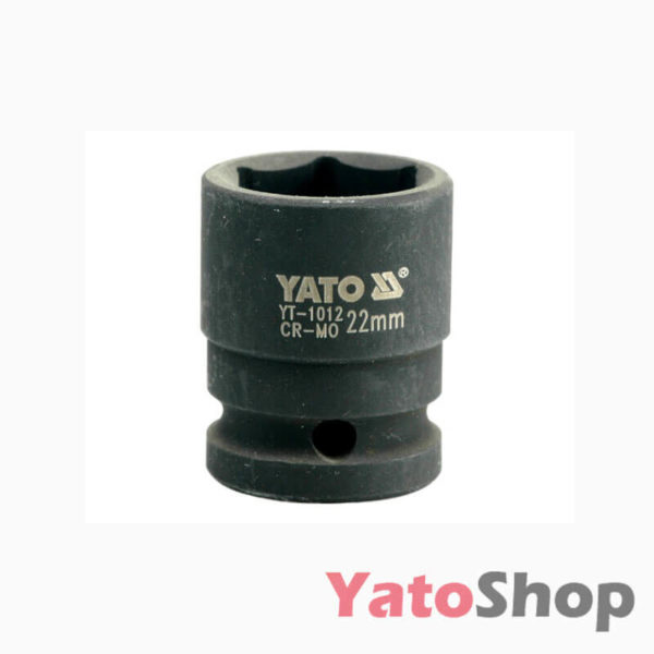 Торцева, ударна, шестигранна головка 22 мм Yato YT-1012
