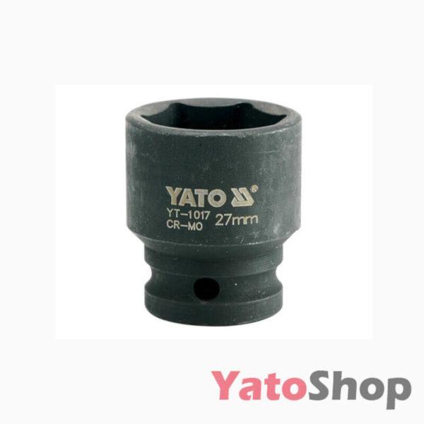 Торцева, ударна, шестигранна головка 27 мм Yato YT-1017