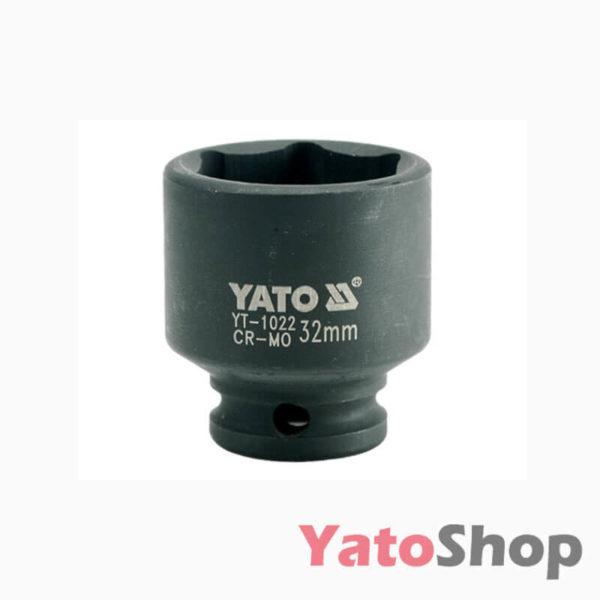 Торцева, ударна, шестигранна головка 32 мм Yato YT-1022