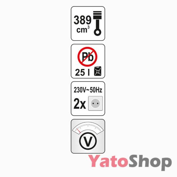 Генератор бензиновий 4000 Ват Yato YT-85437 ціна
