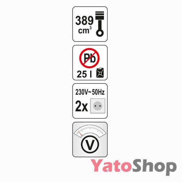 Генератор бензиновий 5000 Ват Yato YT-85440 купити