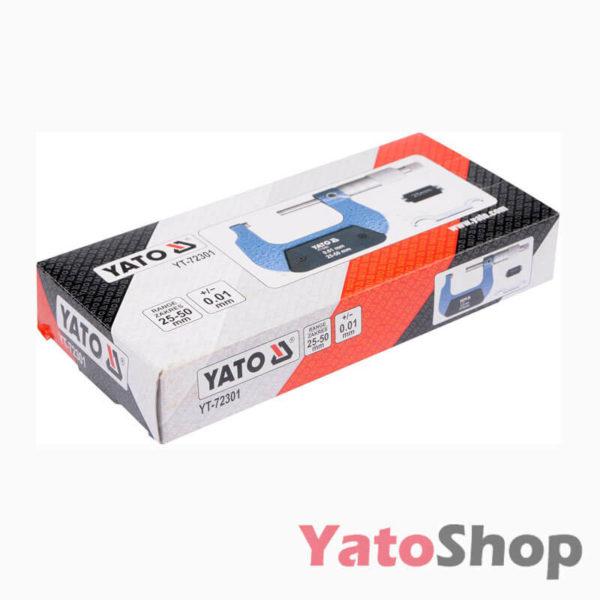 Мікрометр 25мм-50мм YT-72301 Рівне