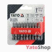 Набір біт хрестових PH1 50мм 10штук YT-0477 Yato