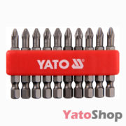 Набір біт хрестових PH2 50 мм 10штук YT-0478 Yato
