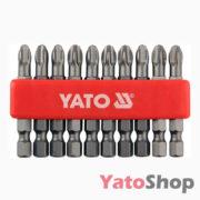 Набір біт хрестових PH3 50мм 10 штук YT-0479