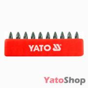 Набір біт хрестових PZ1 25 мм 10 штук YT-0470 Львів