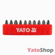 Набір біт хрестових PZ2 25 мм, 10 штук, YT-0471 Рівне
