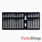 Набір спеціальних біт в металевому боксі 40 шт YT-0400 Yato TORX SPLINE HEX
