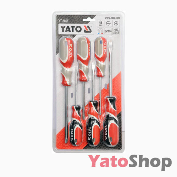 Набір викруток 6 штук SVCM55 YT-2668 Yato